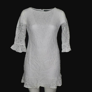 American Living Dress White Lace Ruffles 14 NWT